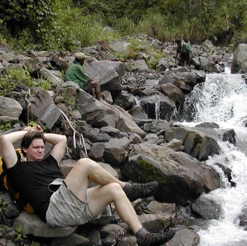 Cooling my heels, field collecting in Papua New Guinea, West Sepik Province, circa 2004/5.