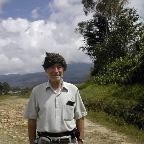 My friend Alan Grinnell sporting a nice new feather cap, Telefomin area, West Sepik Province, Papua New Guinea, circa 2004/5.