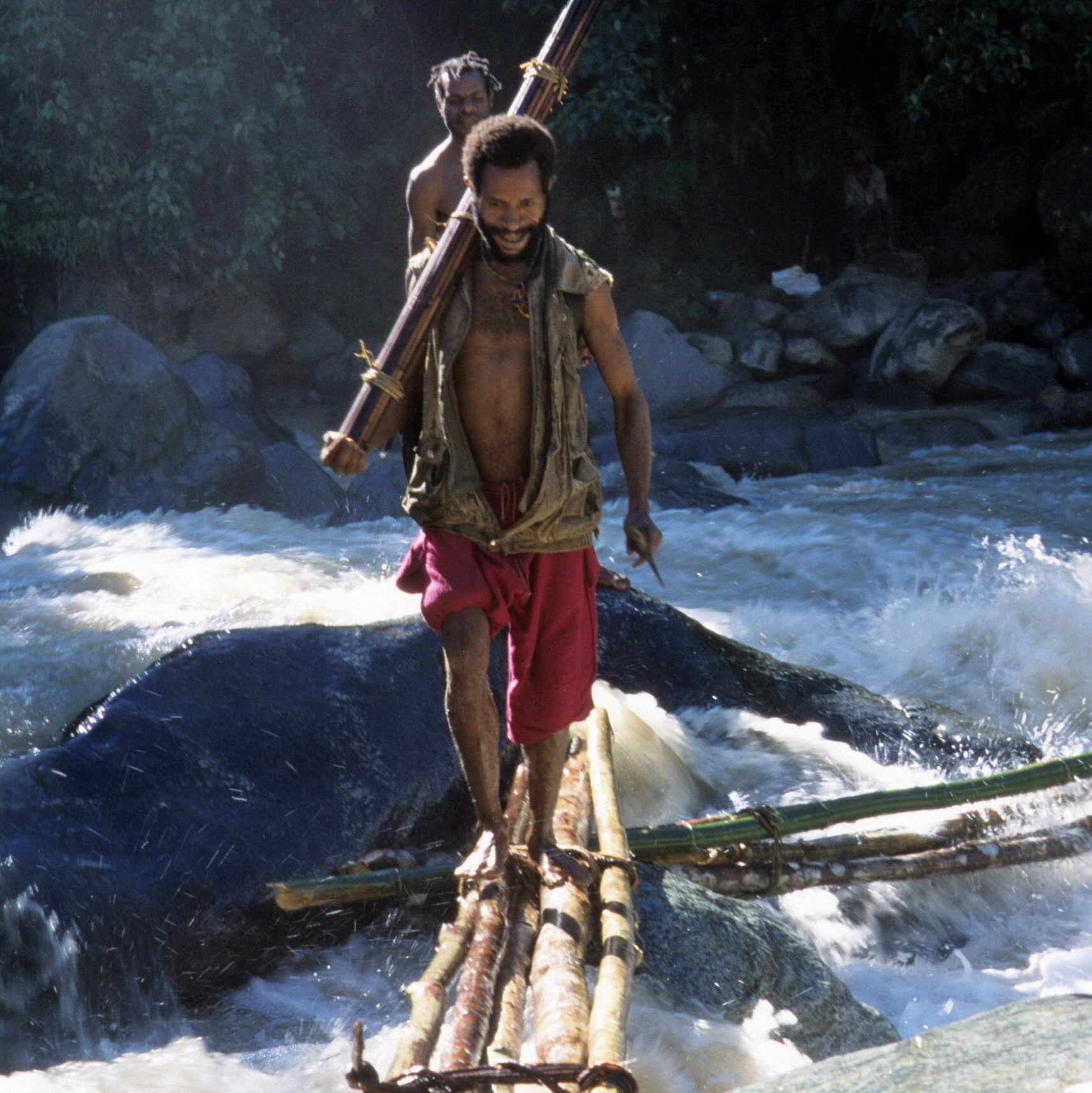 River Crossing, New Guinea Art, Oceanic Art, South Pacific Art, Tribal Art