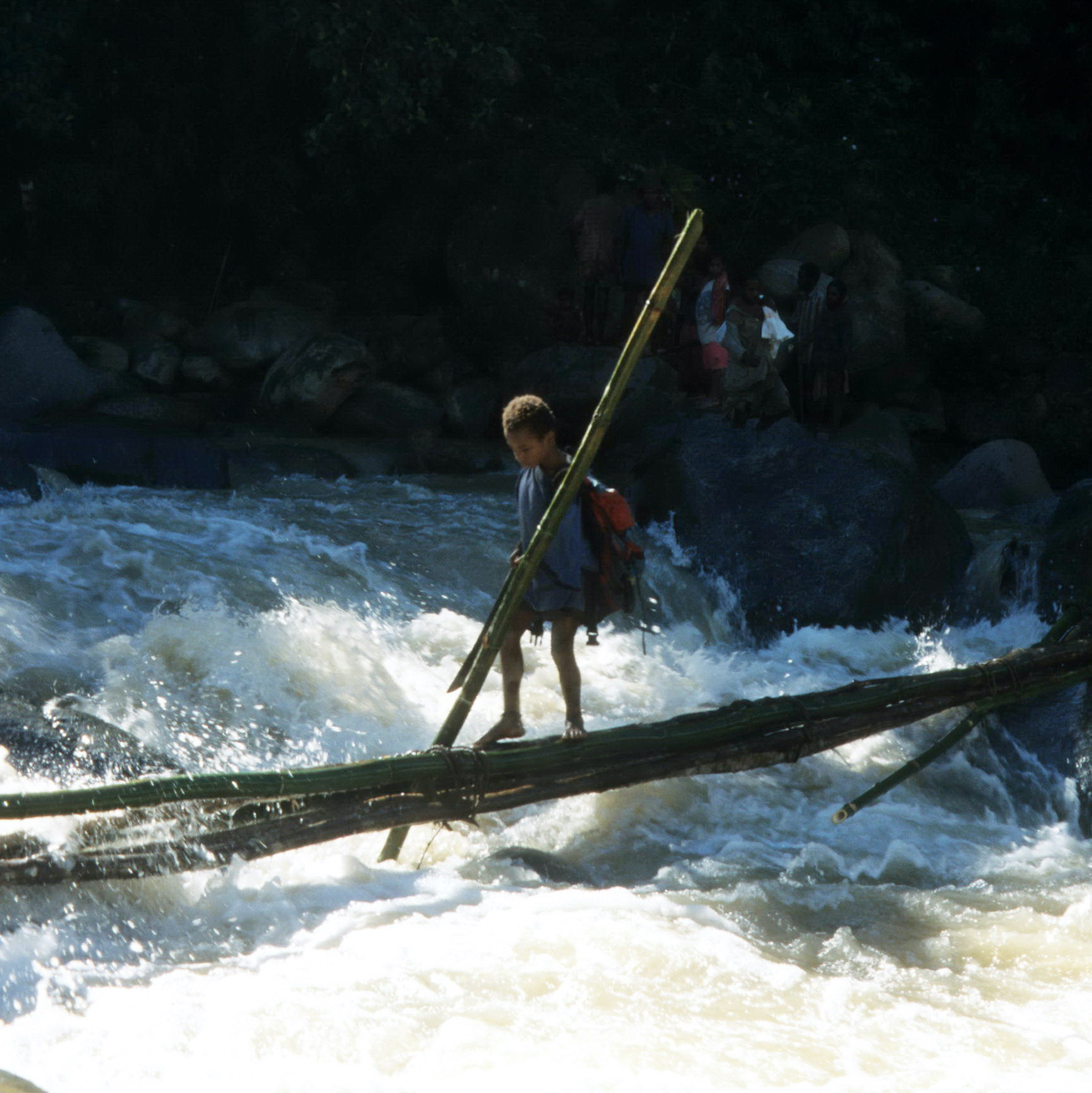 Young Boy Crossing River, New Guinea Art, Oceanic Art, South Pacific Art, Tribal Art