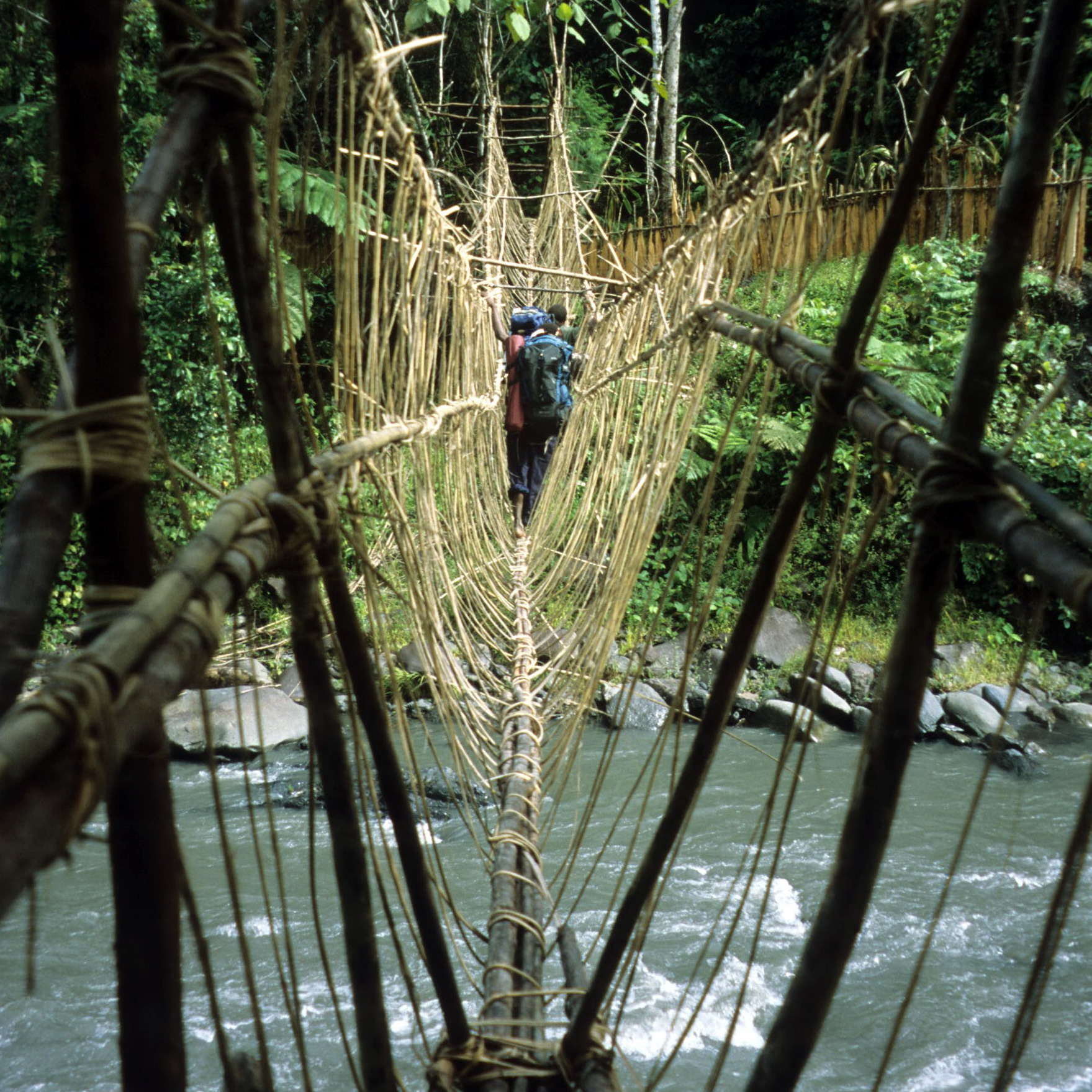 Rope Bridge, New Guinea Art, Oceanic Art, South Pacific Art, Tribal Art