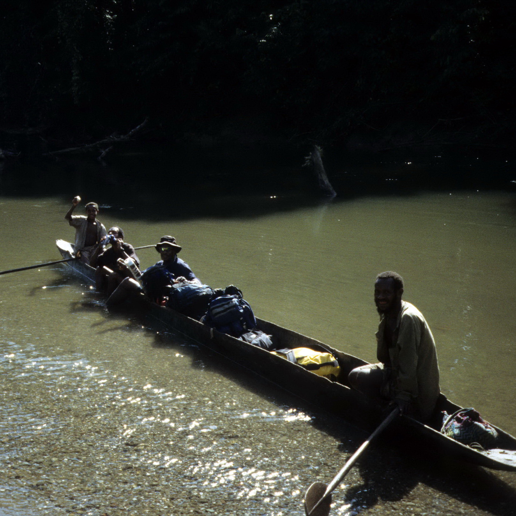 Karawari River in Canoe, Field Collecting Masterpieces of Oceanic Tribal Art