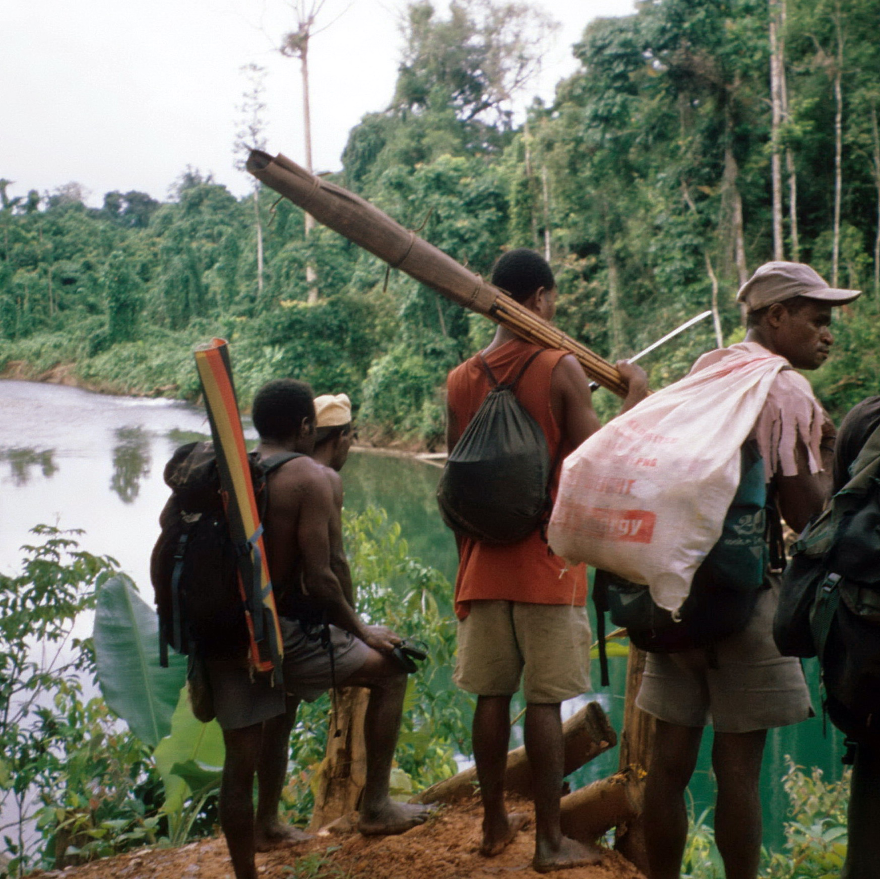 Preparing to Cross West Sepik River, Field Collecting Oceanic Art from New Guinea