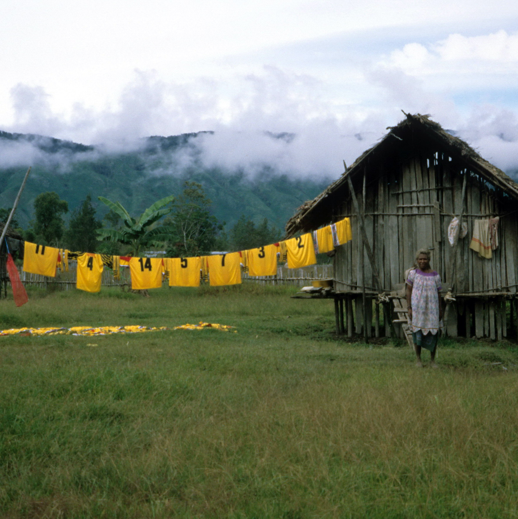 Soccer Team Jerseys in Remote Telefomin Area, Field Collecting New Guinea Art