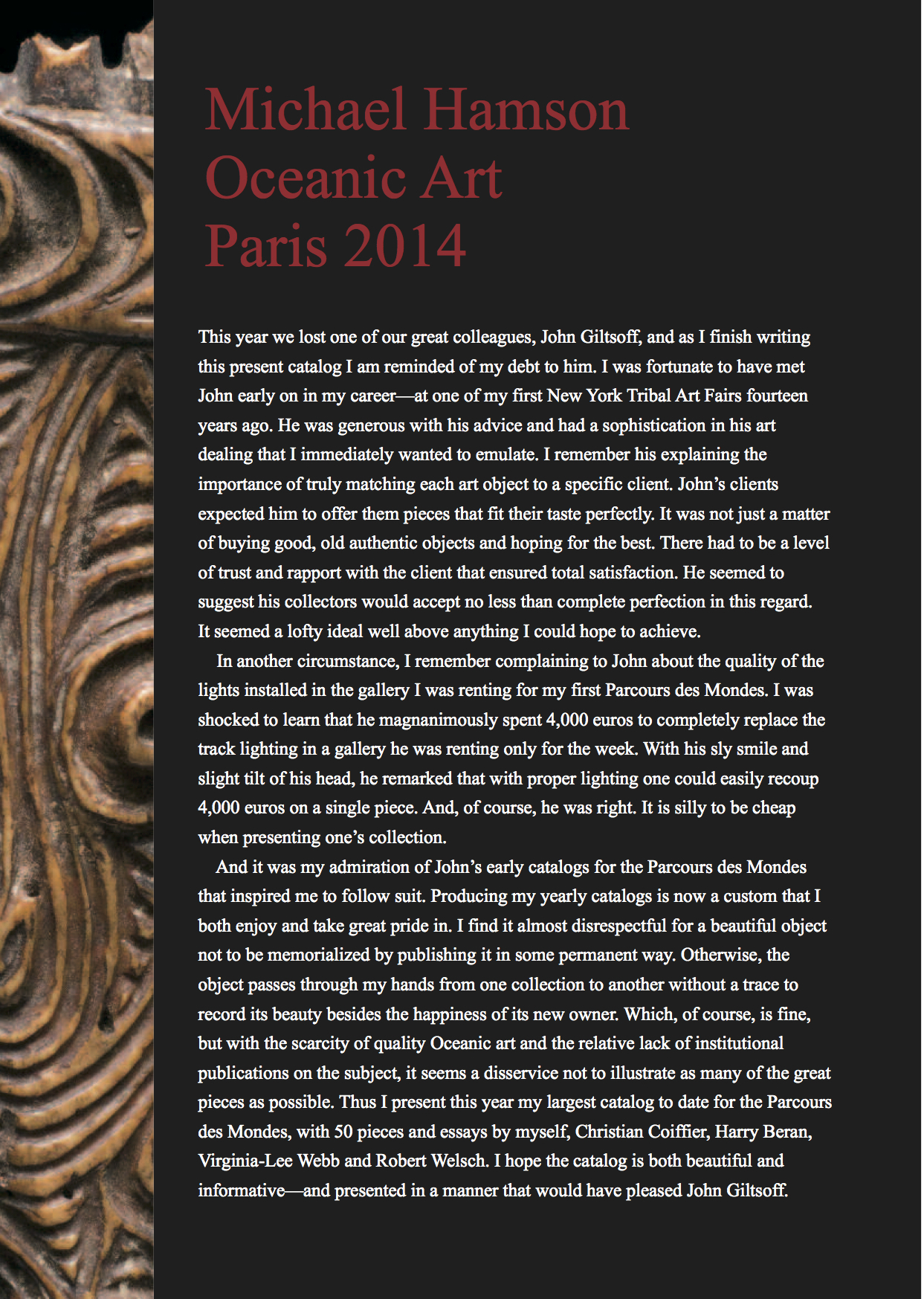 Oceanic Art Paris 2014 New Guinea & Polynesian Art