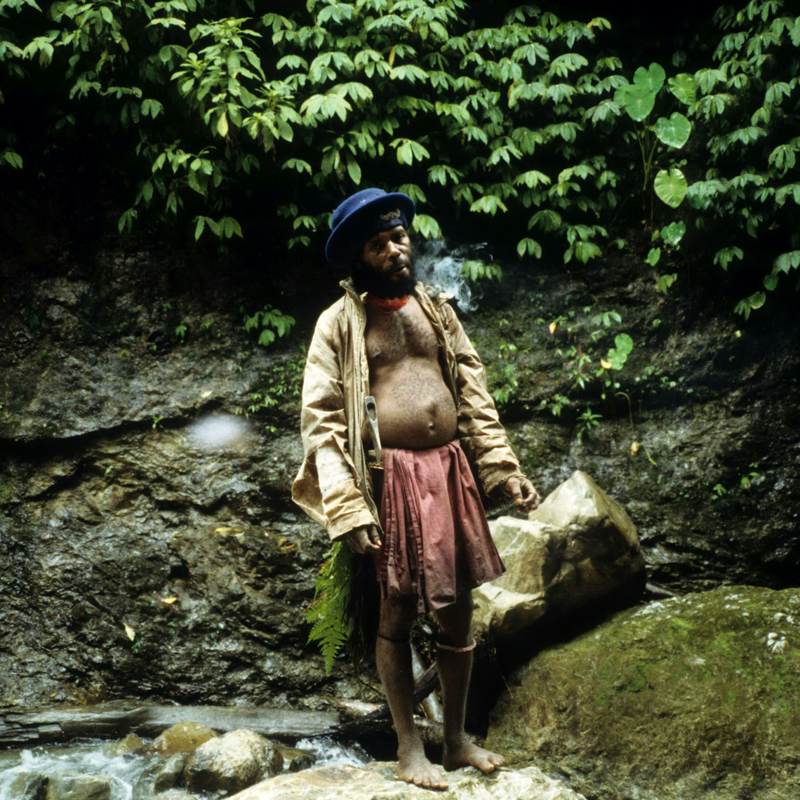 Manyamya Man Smoking Cigarette, On the Hunt for New Guinea Art