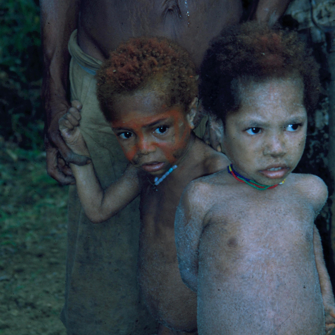 Small Kids with Body Paint, Remote New Guinea Village, Looking for Oceanic Art