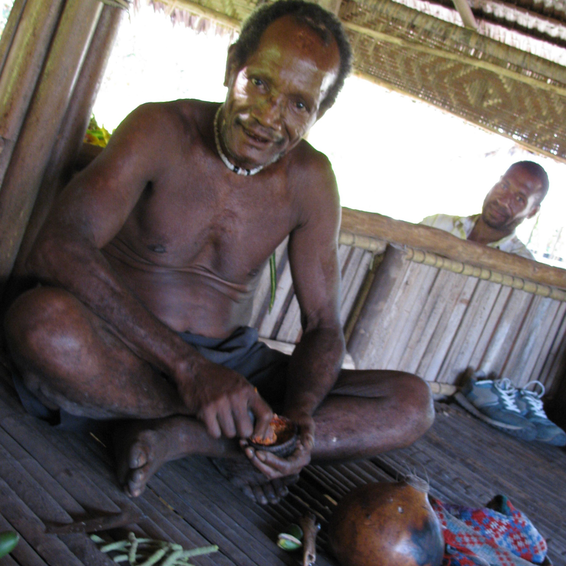 Collingwood Bay Man Chewing Betel Nut, Oceanic Art in Context